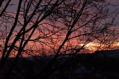 Wschód słońca z okna mieszkania w Rzeszowie